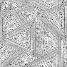 黑白手绘三角背景