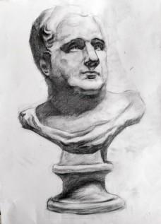 罗马王石膏像装饰画