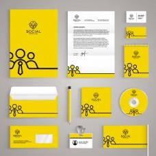 黄色简约企业VI设计