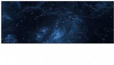 星空连线粒子光效背景视频素材