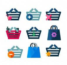 创意购物篮图标ICON