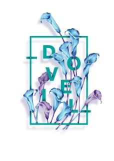 简约花卉海报