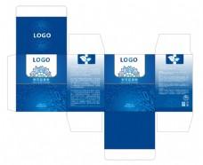 蓝色化妆品包装盒设计