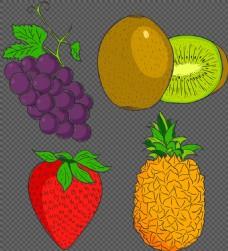 手绘风格水果插画图标免抠png透明素材