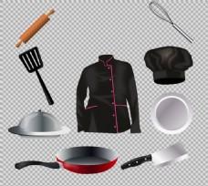 手绘写实风格厨房用品免抠png透明素材