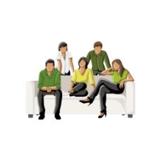 3D聚会沙发元素
