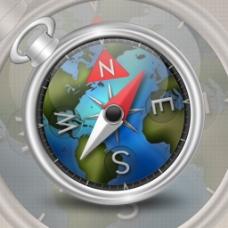 地图指南针素材