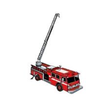 手绘红色消防车元素