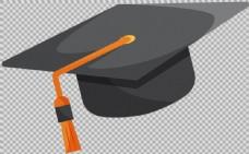 黑色毕业帽子免抠png透明图层素材
