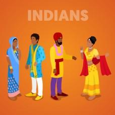 印度特色人物插画
