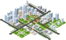 发展中的城市插画