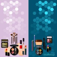 时尚化妆品插画