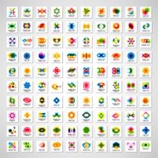 炫彩几何标志图片