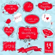 浪漫红色爱情图标