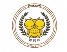 微时光 奶茶店logo