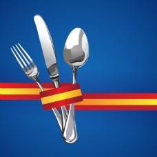 彩带餐厅菜单Logo设计