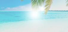 夏天海滩背景图片素材