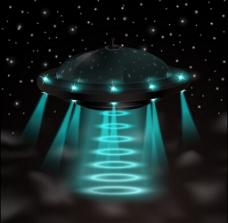 绿色灯光背景图