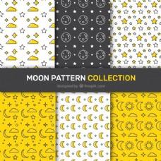 月亮、星星六种平面图案的选择