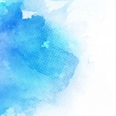 抽象背景,蓝色水彩纹理