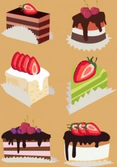 美味蛋糕矢量图