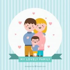 可爱的联合家庭的背景