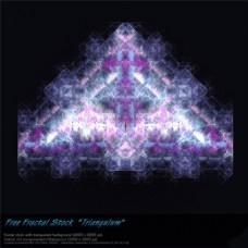 梦幻彩色三角形科技背景图
