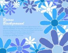 蓝色装饰花纹图案