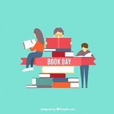 读一堆书的人背景