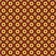 圆形和方形的几何图案