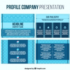 蓝色的商业演示模板