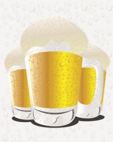 黄色杯子啤酒背景图