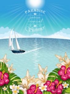 漂亮鲜花海洋背景图