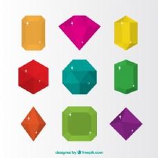 平面设计中的彩色首饰包装