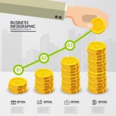 金融行业的信息图表模板矢量