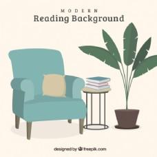 家具背景与书籍