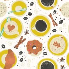 可爱甜品海报填充平铺背景矢量设计素材