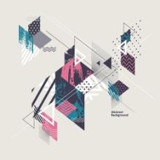 抽像创意几何时尚背景