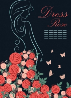 红色玫瑰花背景图