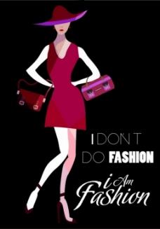 时尚美女包包背景图