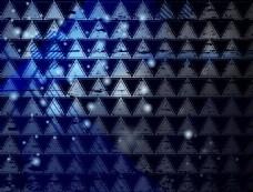 时尚蓝色三角无缝背景