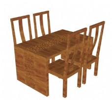 su家具模型 中式餐桌