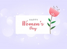 女人的背景与美丽的花朵