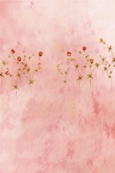 粉色小花H5背景