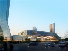 城市繁华建筑设计图