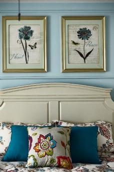 简约美式卧室装修效果图