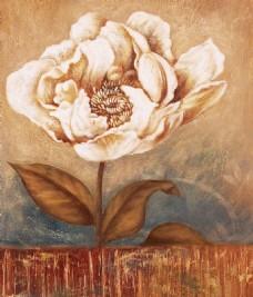 彩绘花朵装饰画