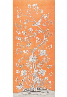 卡橘色布纹壁纸图片