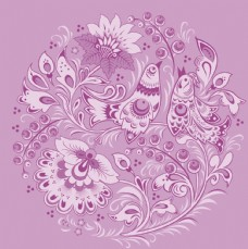 粉色欧式古典花纹底纹