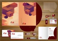 立方体背景VI设计图片